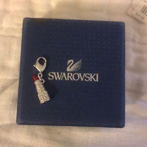 Swarovski lipstick charm bracelet charm
